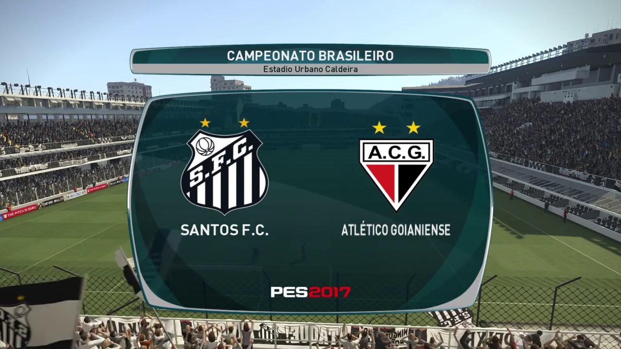 Santos X Atletico Go Rodada 11 Brasileirao Ml Pes 2017 Pracimadelessantos Youtube