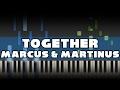 Marcus Martinus Together Piano tutorial