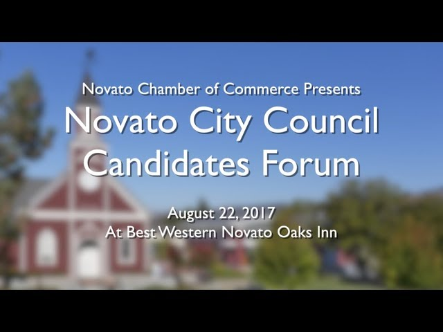 2017 Novato City Council Candidate Forum