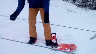 Attempt the ascent to ski lifts))). Попытка подъема на бугельном подъемнике))).