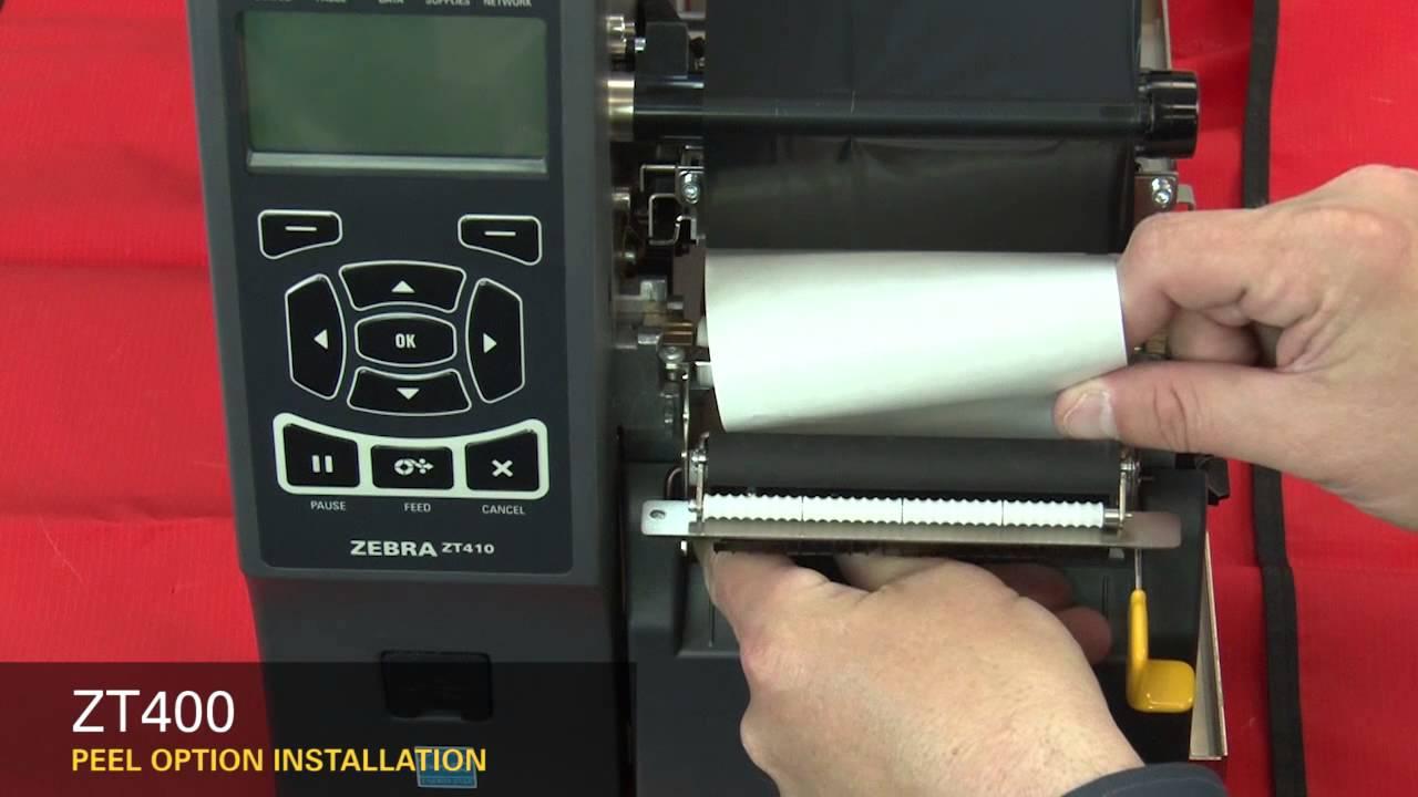 Zebra ZT400 Series: How-to Install the Peel Option