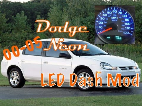 How to install LED Dash Light Conversion - Dodge Neon years 2000 2001 2002 2003 2004 2005