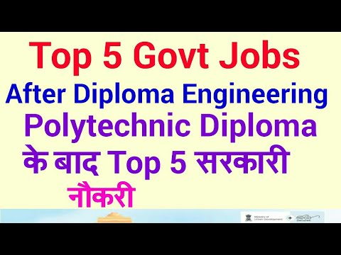 Top 5 government jobs after diploma Engineering