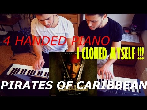 Pirates of the Caribbean - He´s a Pirate - Four Hands Clone Piano + SHEETS