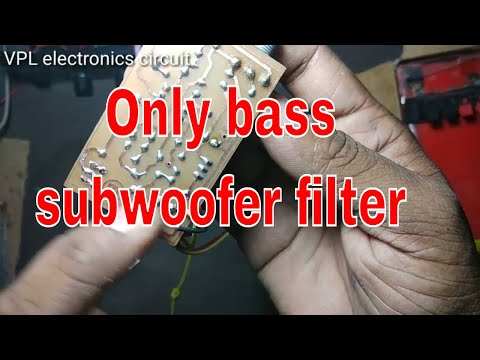 Only Bass Subwoofer Filter || How To Use And || What Is Work