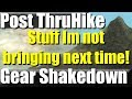4 Pieces of Gear I won't pack anymore- Post Thru Hike Gear Shakedown | RevHiker