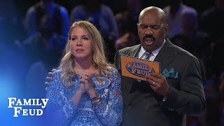 The SMITHS go for FAST MONEY!   Family Feud