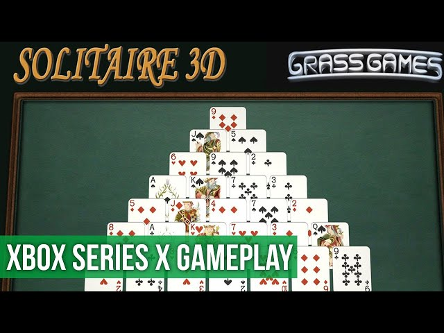 Solitaire 3D - Gameplay (Xbox Series X) HD 60FPS