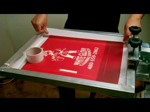 Screen Printing Process From Start To Finish, Thanks To Ryon