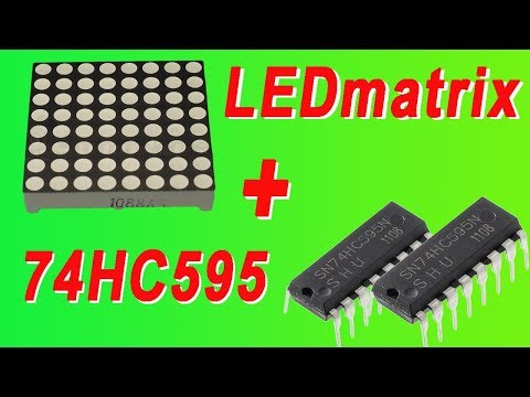 Управление светодиодным матричный индикатором через регистр 74HC595.matrixLED Shift