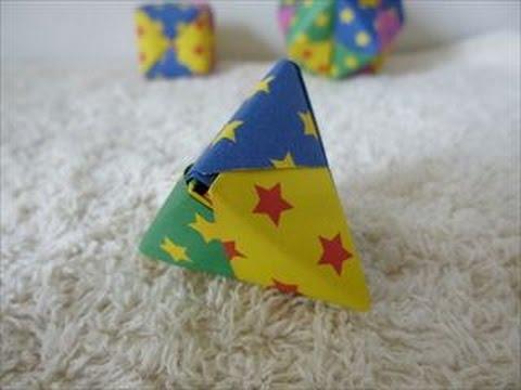 ハート 折り紙:折り紙 三角-youtube.com