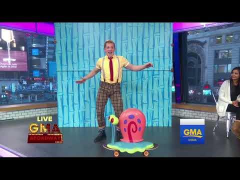 Spongebob Broadway Performing On Good Morning America 1-2-18