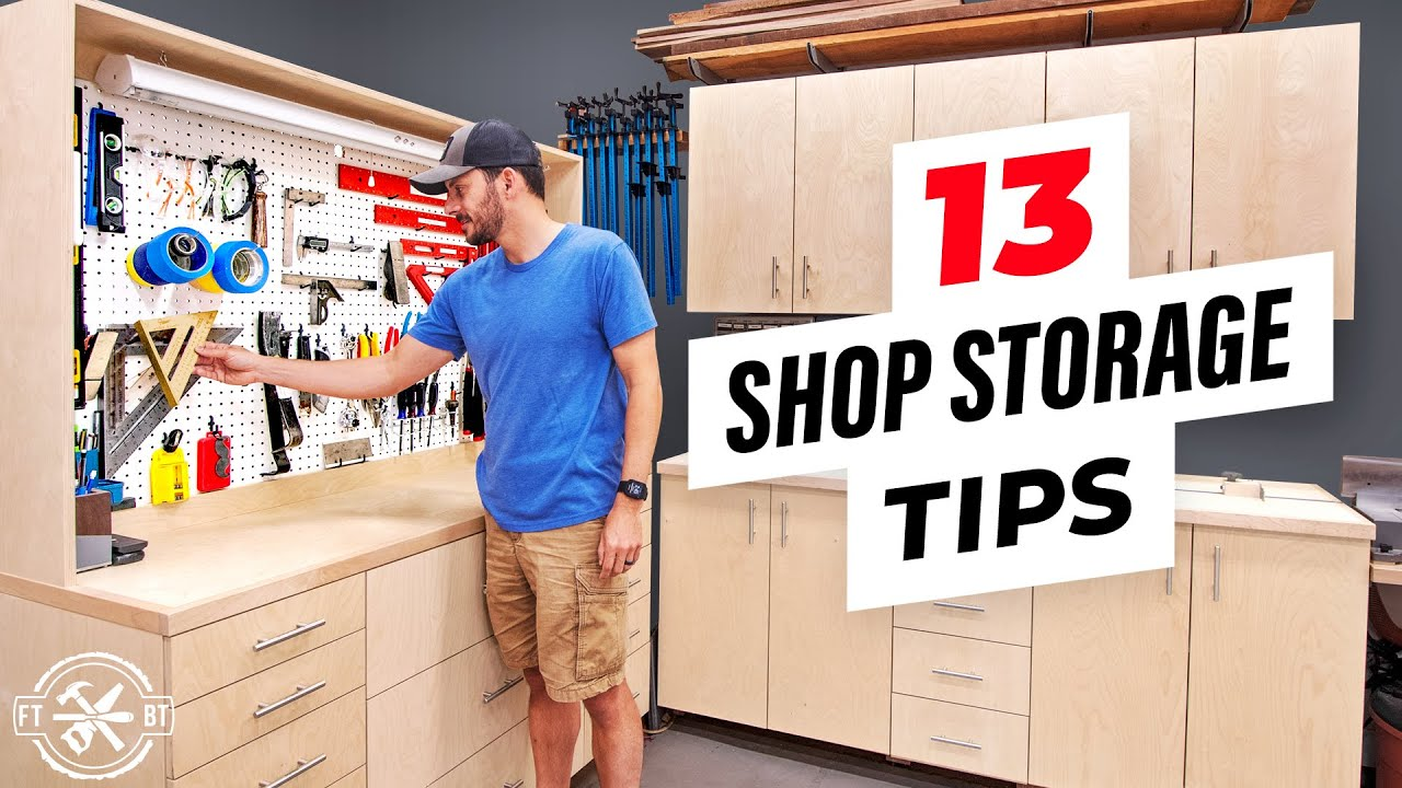 13 Easy Ways to Organize a Messy Woodworking Shop
