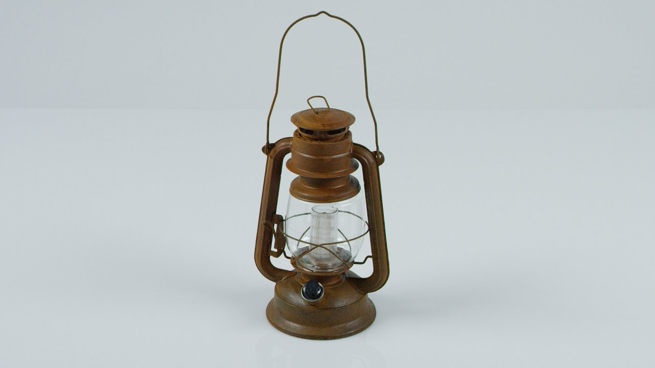ORVIS - Vintage-Style Rustic Battery-Powered LED Hurricane ...