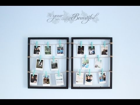 DIY Clothespin Picture Frame - YouTube