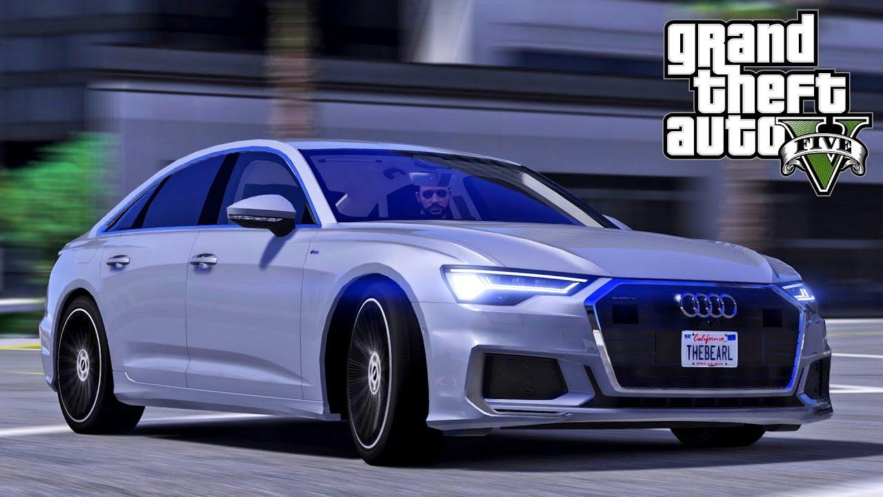 السرعة والفخامة سيارة أودي أي 6 موديل 2019 في جي تي أي 5 | GTA V Audi A6 2019