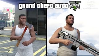 GTA 5 - Rail Gun and Hatchet Gameplay (How to unlock) [PS4 & Xbox One]