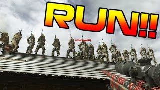 SNIPERS vs. RUNNERS!! CRAZY COD 4 REMASTERED MINI-GAME!! (Border Patrol MWR)