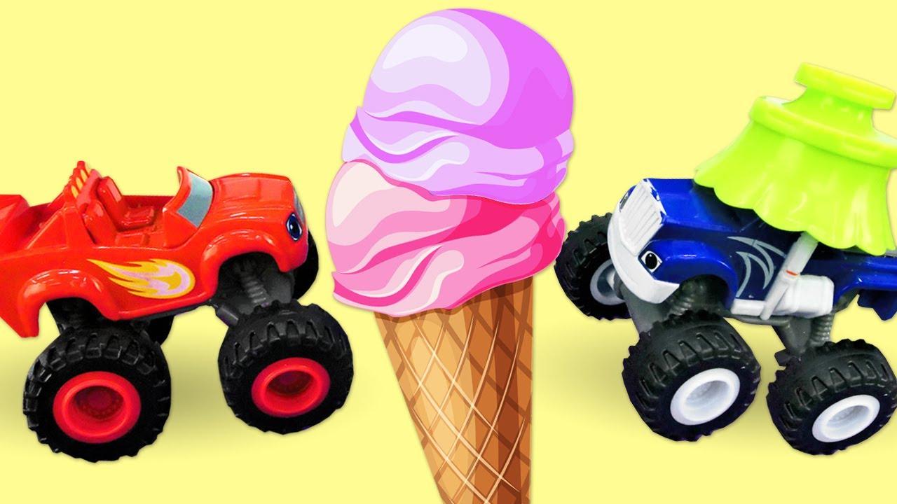 Blaze e as Monster Machines encontraram uma máquina de sorvete de massinha Play-Doh!