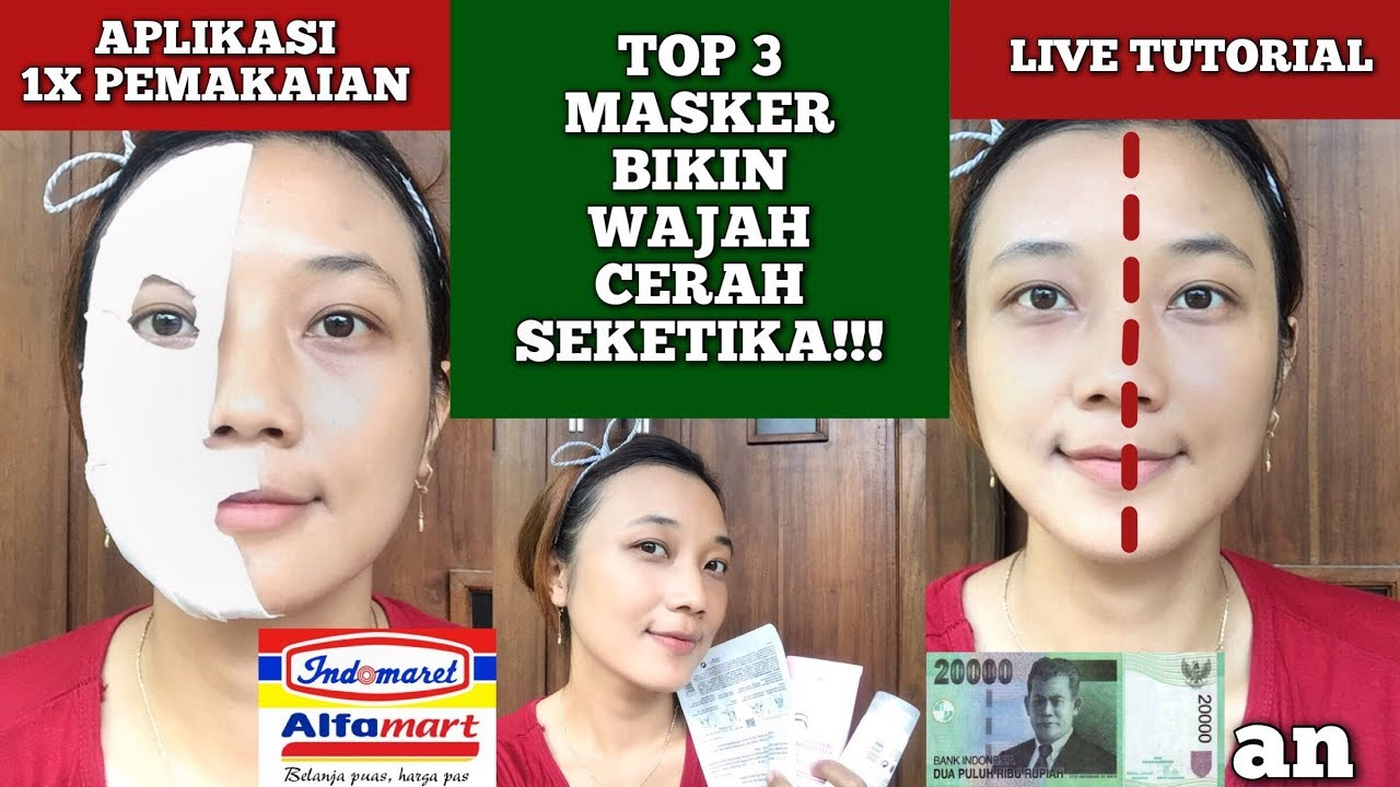 3 Masker Supermarket Paling Ampuh Tanpa Php Masker Wajah Terbukti Memutihkan Harga Murah Meriah Youtube