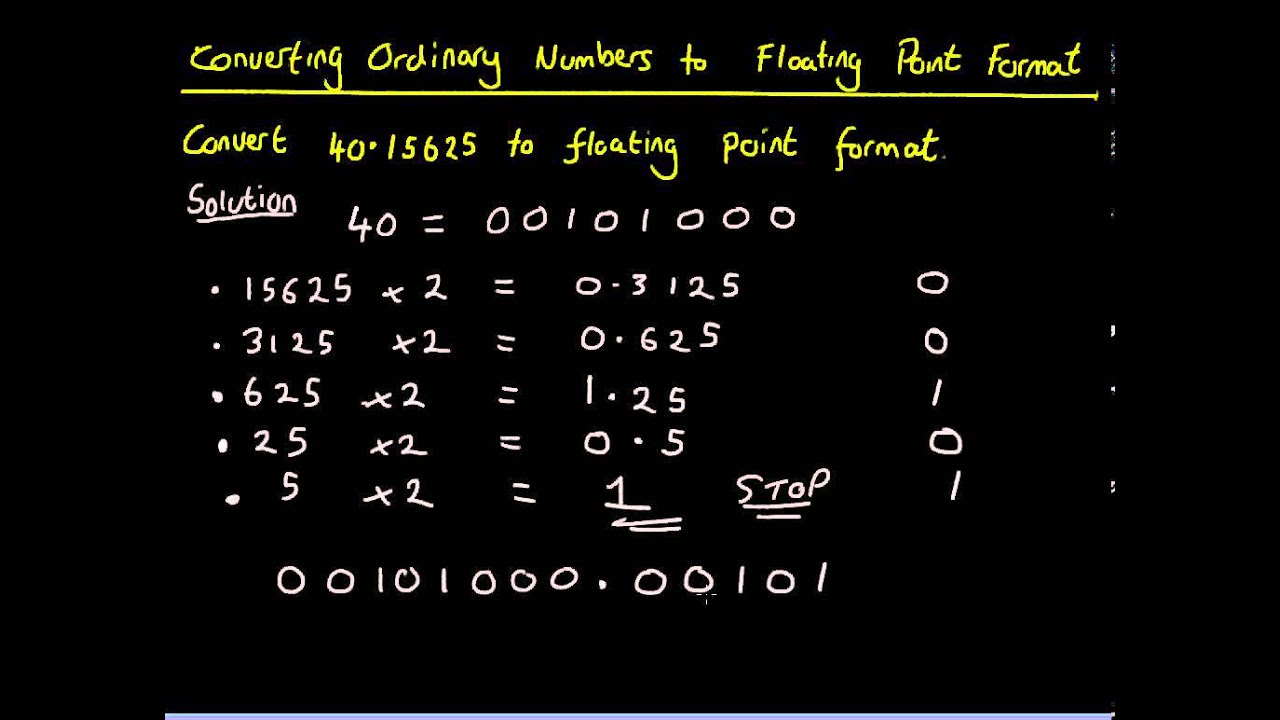 Computer science finding the mantissa from binary with floating.