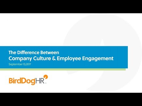 Company Culture and Employee Engagement: The Difference