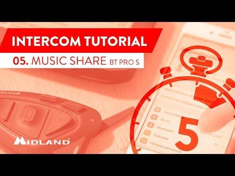 MIDLAND TUTORIALS - BT X1 PRO S, BT X2 PRO S - MUSIC SHARE - CONDIVISIONE MUSICA