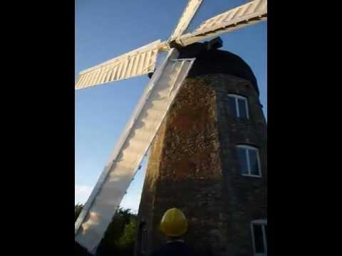 Windmill sails turning