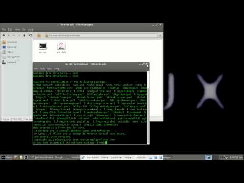 How to : Install software in an ubuntu/debian based linux distro