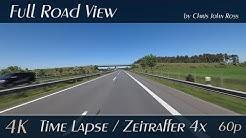 Autobahn (A31), Germany: Emsbüren - Lingen - Meppen - Haren - 4x Time Lapse (Zeitraffer) - 4K UHD
