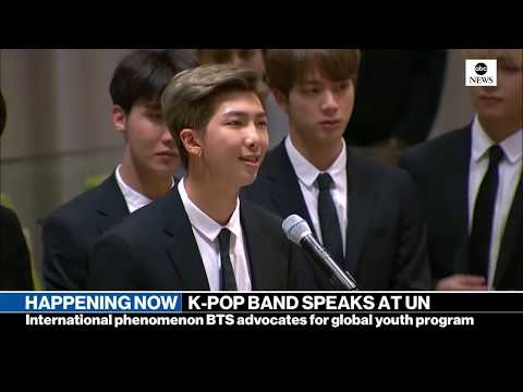 K-Pop group BTS addresses UN General Assembly | ABC News