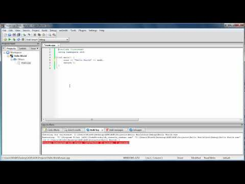 Teach yourself C++ Lesson 1 hello world in detail