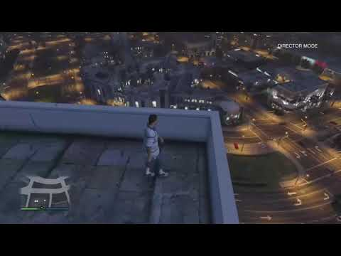 Grand Theft Auto V Falling Off Buildings...