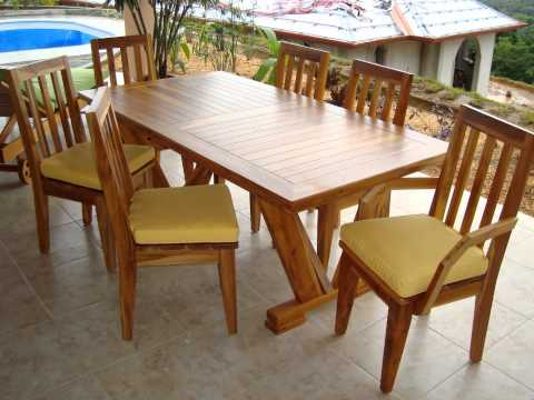 Teak patio outdoor furniture Costa Rica by Pacific Home Furnishing