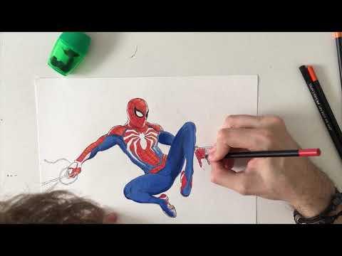 Desenho Do Homem Aranha Ps4 Spider Man Ps4 Youtube