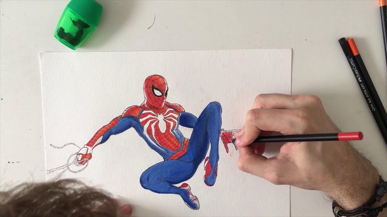 Desenho Do Homem Aranha Ps4 Spider Man Ps4