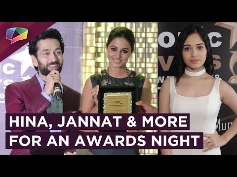 Hina Khan Receives An Award | Jannat Zubair, Nikita Dutta & More Attend Iconic Awards