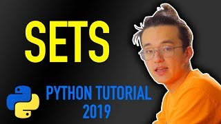 14 - how to use sets in python (Python tutorial for beginners 2019)