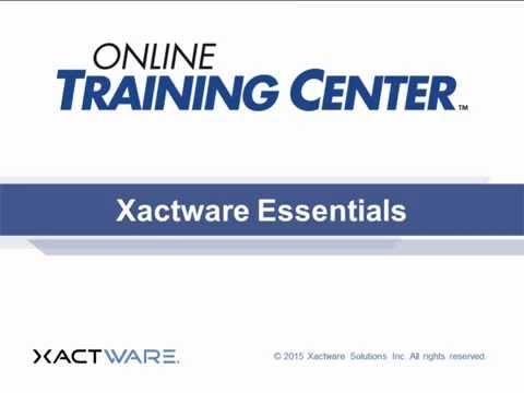 Xactware Essentials Training