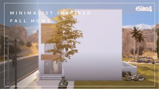Minimalist Inspired Fall Home | No CC | Sims 4 stop motion build