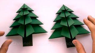 Weihnachtsbasteln: Tanne basteln als Weihnachtsdeko - Weihnachtsdekoration selber machen