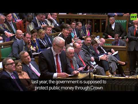 Corbyn goes in on May over Carillion at PMQs