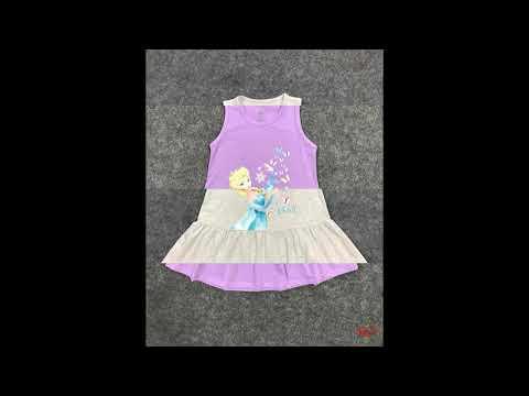 đầm elsa đàn bướm | bán buôn quần áo trẻ em thương hiệu htkids