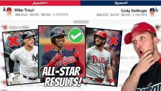 MY FINAL 2019 ALL STAR GAME VOTING RESULTS (MLB)