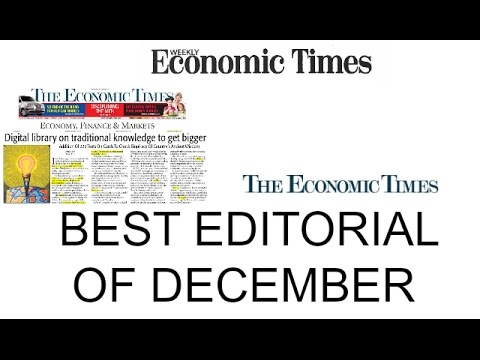 THE ECONOMIC TIMES BEST EDITORIAL ( DECEMBER )| DEMONETISATION | DIRECT AND INDIRECT TAXES |