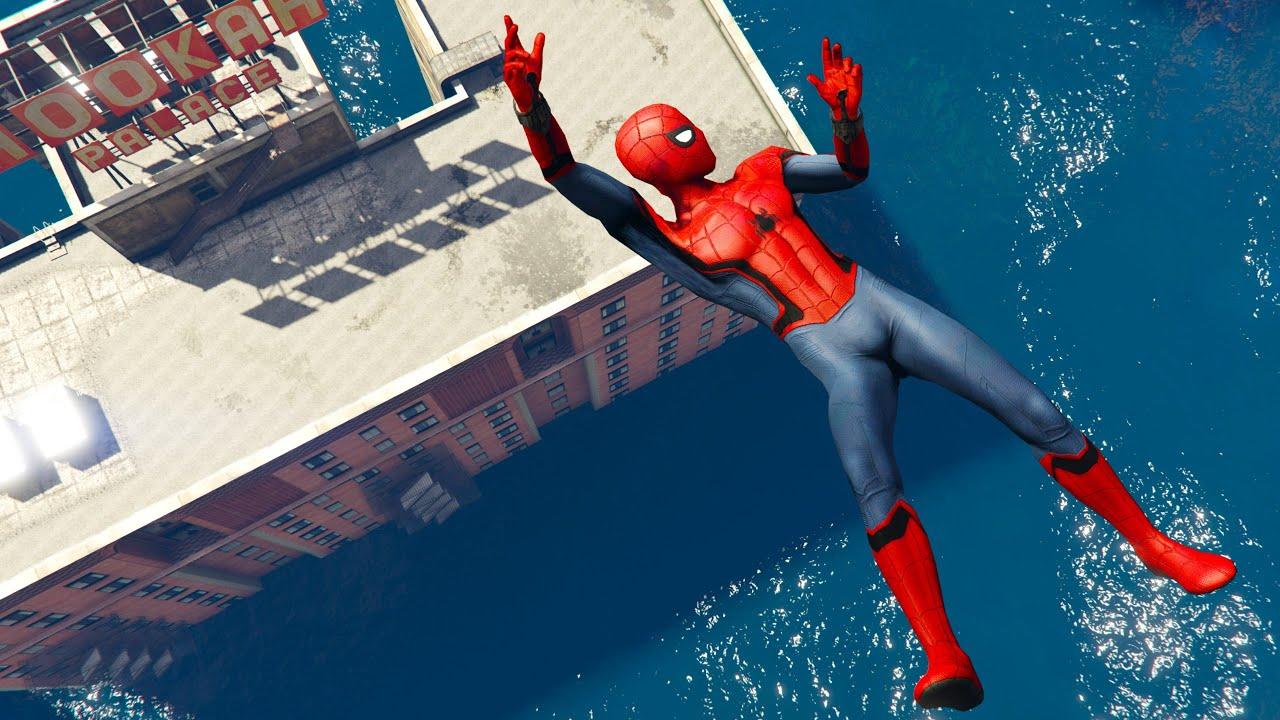 GTA 5 Spiderman Ragdolls   Fails Compilation #15 (Euphoria Physics, Jumps, Funny, Epic Moments)