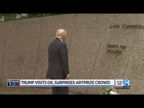Trump visits Grand Rapids, surprises ArtPrize crowd