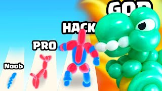 BLOWING a MAX LEVEL BALLOON ANIMAL in Balloon Pop Runner