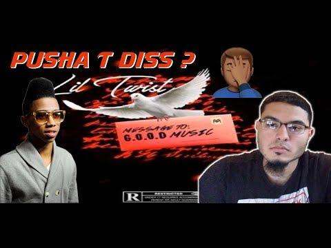 Lil Twist - Message 2 G.O.O.D. Music (Pusha T Diss)   REACTION