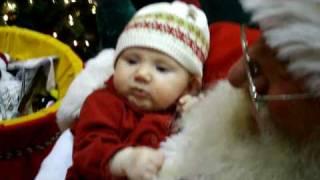 Annika Pulling Santa's Whiskers!  Dec 15th.